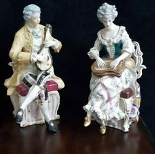 Antique 19thC A.W.Fr Kister Scheibe Alsbach Porcelain Baroque Figurines