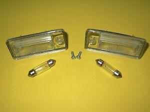 2 Kennzeichenleuchten 0325919  0325920 AUDI A3 8P A4 B6 B7 A6 C6 + 2x Lampen C5W