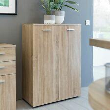 WOHNLING Kommode SVENJA Anrichte Sideboard Holz Sonoma Flurschrank mit Türen