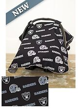 NFL Licensed CARSEAT CANOPY ~ OAKLAND RAIDERS ~ Infant Car Seat Canopy NEW!