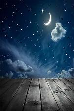 3x5ft Moon Stars Baby Photography Backgrounds Vinyl Cartoon Photoshoot Backdrops