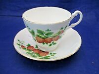 VINTAGE ROYAL STUART TEA CUP AND SAUCER - MADE IN ENGLAND - FINE BONE CHINA