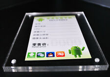 5pcs 5.9inch Solid Acrylic Label Holder Price Display Stands Tag Frame Sign Rack