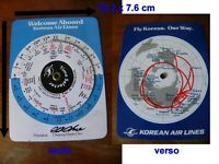 vintage card selector times business korean air lines Cho Coong Hoon années 70