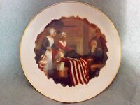 Collector Plate/First Stars and Stripes 1777/By John Ward Dunsmore/Ridgewood