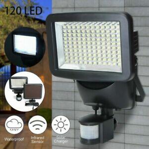2x Solar Sensor Lights Motion 120 LED Night Light Security Garden Outdoor Detec