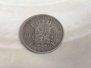 1867 50 Centimes - Leopold II Silver (.835) • 2.5 g • ⌀ 18 mm KM# 26, LA# BFM-66