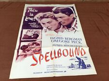 1960's ABC Release of Spellbound Original Movie House Full Sheet Poster