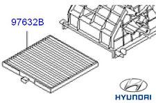 Genuine Hyundai i10 Pollen Cabin Filter - 9713307010