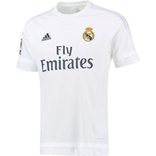 d1f21779108 adidas Mens Real Madrid Home Soccer White Jersey 100 Authentic 2015 L