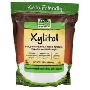 NOW Foods Xylitol 2.5 lbs FREE SHIPPING. MADE IN USA. FRESH