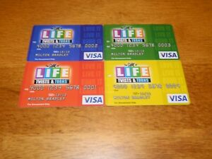 2007 Game of Life Twists and Turns Set of 4 Credit Cards ONLY