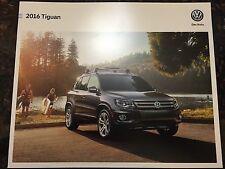 2016 VW Tiguan 16-page Original Sales Brochure