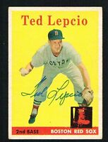 Ted Lepcio #29 signed autograph auto 1958 Topps Baseball Trading Card