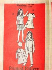 "Rare Mail Order Sewing Pattern #4701 fits vintage 9"" Skipper Doll Barbie sister"