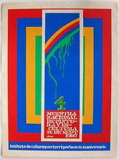Luis Alonso Muestra Nacional De Pintura Y Escultura Cartel ICP Puerto Rico 1980