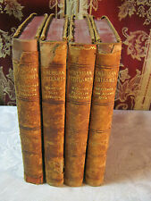 AMERICAN STATESMEN TRUE STORIES OF AMERICAN HISTORY LEATHER ANTIQUE  BOOK SET T*