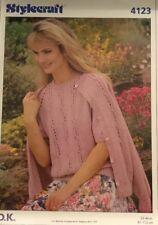 "DK Knitting Pattern ladies Short Sleeve Jumper & Cardigan  Twinset Size 32/42"""