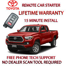 2016 2017 2018  TOYOTA TACOMA REMOTE START - NO WIRE SPLICING-FOR SMART KEY.
