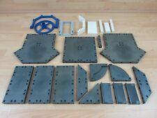 Playmobil Spares Base Plates Edges Construction Spares/Replacements Black/Grey