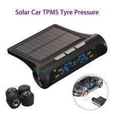 Car Auto TPMS Tire Pressure Monitor System Wireless 4 Sensors LCD Solar Power