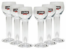 Linie Fra Norge - Aquavit Gläser - 6Stück Shot Gläser Bar Cocktail