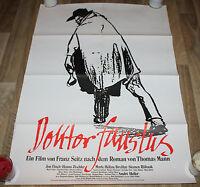 DOKTOR FAUSTUS Orig. Plakat A1-1982- Thomas Mann, Jon Finch, Franz Seits