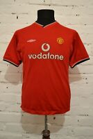 VINTAGE MANCHESTER UNITED 2000/2002 HOME FOOTBALL SHIRT SOCCER JERSEY BOYS L