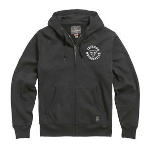 Triumph Digby Mens Full Zip Black Hoodie MSWS21015