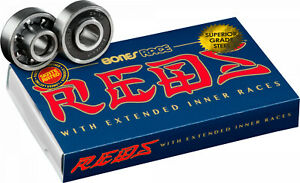 Bones® RACE REDS® Skateboard Bearings 8pk *Genuine* - Brand New - Free Post
