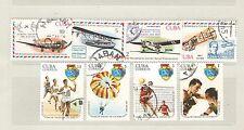 q7918 - CUBA - 1977 - SERIE COMPLETA USATA PITTURA N°2022/29 - VEDI FOTO