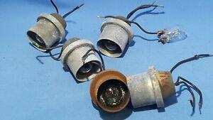 5x alte Einbauleuchten ca.4.5x4.4x3.5 cm Lämpchen-Signalleuchten-Lampen