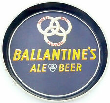 "vintage 12"" Metal Beer Serving Tray - BALLANTINE'S ALE & BEER of NEWARK, N.J."