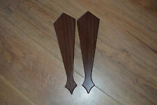 2x Mahogony Brown Gable End Fascia Trim / Fittings uPVC - Finishing Touch