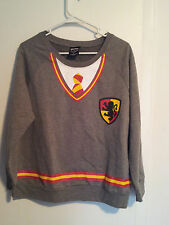 Junior-Girls-Harry-Potter-Size-XL-Gryffindor-Shirt-Graphic-Front-Crest-Tie-Shirt