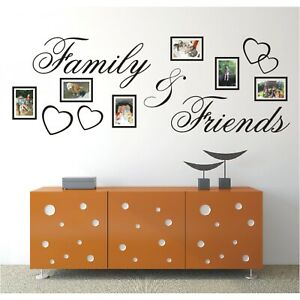 Spruch WANDTATTOO Family Friends Bild Bilderrahmen Foto Wandsticker Aufkleber 2