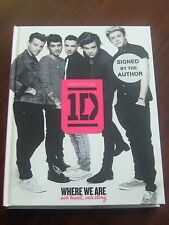 ONE DIRECTION 'WHERE WE ARE' HARDCOVER BOOK FULL BAND SIGNED - COMPETITION PRIZE
