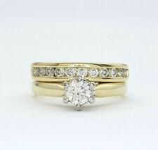 Ladies Rings 9ct (375,9K)Yellow Gold (0.58ct) Diamond Engagement Wedding Rings