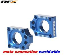 NEW RFX YAMAHA YZ125 YZ250  2002 - 2017 CNC PRO SERIES BLUE AXLE BLOCKS