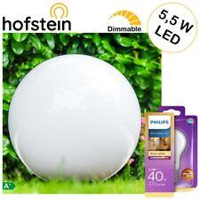 Garten Kugel Leuchten Ø50cm Außen Steh Lampe mit 1 Philips LED 5,5W Leuchtmittel