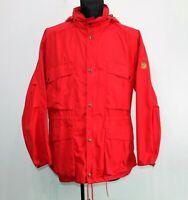 Fjallraven Vintage Hooded Men Activity Jacket Red Coat Size 52, Large Genuine