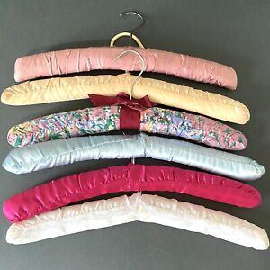 Vintage Retro Padded Fabric Coat Hangers 1970s Mid Century Hand Made