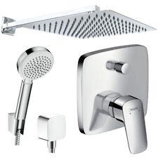 Unterputz Duschsystem mit Kopfbrause 300 x 300, Hansgrohe Logis Duscharmatur Set