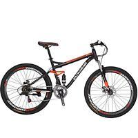 """27.5"""" Full Suspension Mountain bike Mens Bikes Shimano 21 Speed Bicycle MTB"""