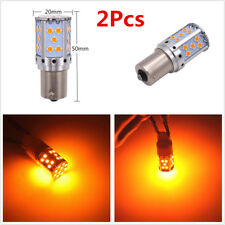 2x 21W Amber 7507 PY21W 1156PY LED Bulb For Car Front or Rear Turn Signal Lights