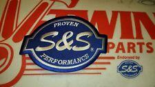 "510-0193 S&S® Cycle Logo Patch 6"" Inch Harley-Davidson Blue/White VEST JACKET"