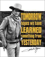 John Wayne Tomorrow American Legend Western Cowboy Hollywood Decor Metal Sign