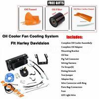 Reefer Oil Cooler Complete Fan Cooling System For Harley Touring Model 1999-2008