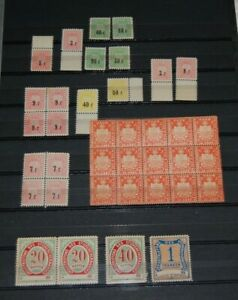 Switzerland - Locals - Revenue Collection Mint NH VF 37 stamps see photos