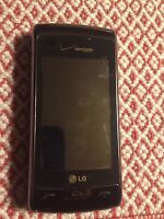 LG EnV Touch VX11000 - Black Silver Verizon Cell Phone Page Plus - Clean ESN